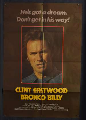 Bronco Billy Poster Original UK One Sheet 1980 Clint Eastwood Western