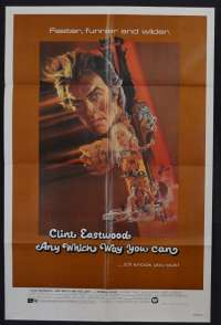 Any Which Way You Can 1980 One Sheet USA movie poster Clint Eastwood