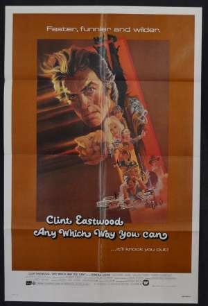 Any Which Way You Can Poster One Sheet USA 1980 Clint Eastwood