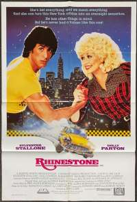 Rhinestone Poster Original One Sheet 1984 Sylvester Stallone Dolly Parton