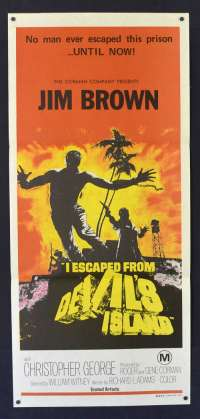 I Escaped From Devil's Island 1973 Daybill movie poster Jim Brown Roger Corman