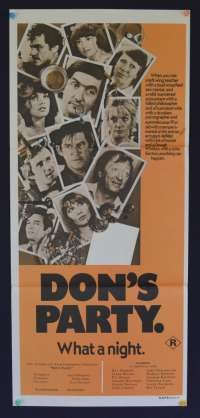 Don's Party Poster Graham Kennedy Australian Daybill Movie poster
