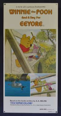Winnie The Pooh And A Day For Eeyore Movie Poster Original Daybill 1983 Disney
