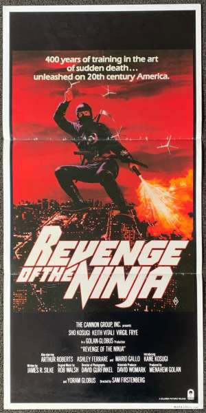 Revenge Of The Ninja 1983 Daybill movie poster Shô Kosugi
