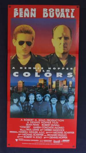 Colors Poster Original Daybill 1988 Sean Penn Robert Duvall Cops