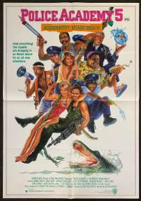 Police Academy 5 1987 One Sheet movie poster Carl Ramsey art
