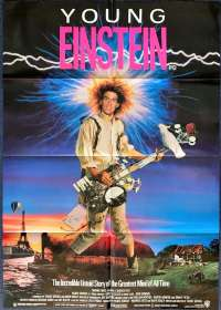 Young Einstein 1988 One Sheet movie poster Yahoo Serious John Howard
