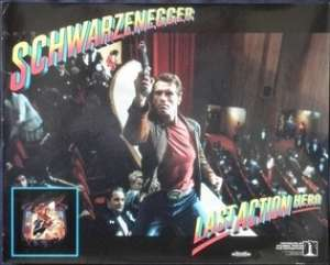 "Last Action Hero Lobby Card 11x14"" Original Arnold Schwarzenegger"