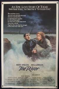 The River 1984 One Sheet movie poster Mel Gibson Sissy Spacek