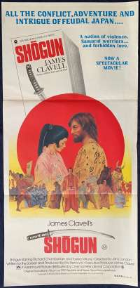 Shogun 1980 Daybill movie poster Richard Chamberlain James Clavell