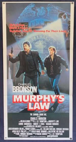 Murphy's Law Daybill Movie Poster Original 1986 Charles Bronson