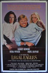 Legal Eagles 1986 One Sheet movie poster rolled Robert Redford