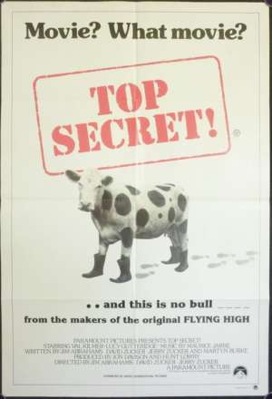 Top Secret One Sheet Australian Movie Poster