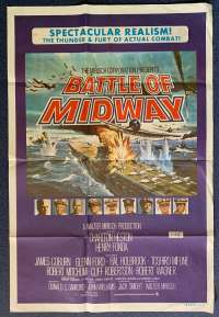 Battle Of Midway Poster Original One Sheet 1976 Charlton Heston Henry Fonda