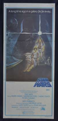 Star Wars Movie Poster Original FIRST RELEASE Daybill 1977 Tom Jung Art
