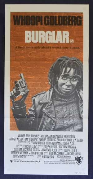 Burglar Movie Poster Original Daybill 1987 Whoopi Goldberg