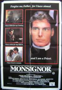 Monsignor One Sheet movie poster Christopher Reeve Rare art