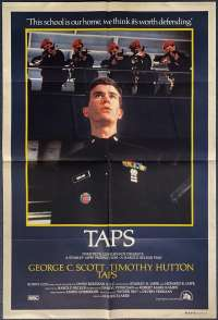 Taps 1981 One Sheet Movie poster Timothy Hutton Sean Penn Tom Cruise