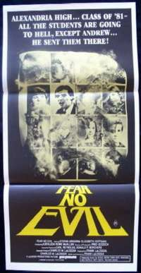 Fear No Evil Daybill Movie poster