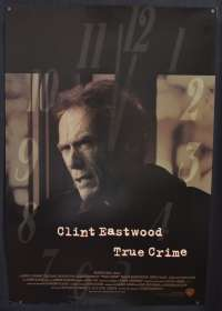 True Crime 1999 Clint Eastwood James Woods One Sheet movie poster