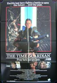 The Time Guardian Movie Poster Original One Sheet 1987 Tom Burlinson Nikki Coghill