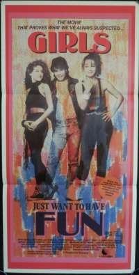 Girls Just Want To Have Fun Daybill Movie poster