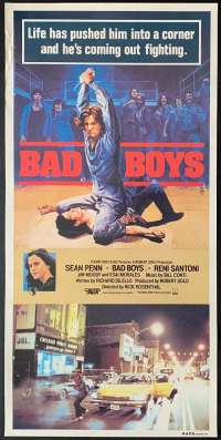 Bad Boys 1983 Daybill movie poster Gangs Sean Penn Ally Sheedy