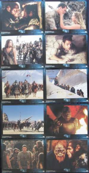 Planet Of The Apes 2001 Lobby Card Set 11x14 Mark Wahlberg Tim Burton