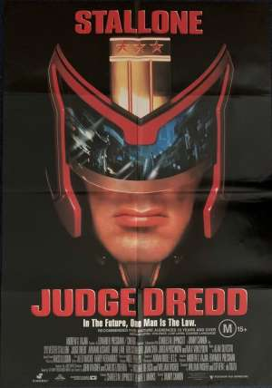 Judge Dredd Poster One Sheet Original 1995 Sylvester Stallone Diane Lane