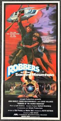 Robbers Of The Sacred Mountain Daybill Movie poster