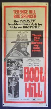 Boot Hill - Trinity Boys Daybill Movie poster