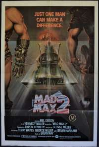 Mad Max 2 Movie Poster Original USA One Sheet 1981 Mel Gibson Road Warrior