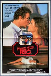 Blame It On Rio Poster Original One Sheet 1984 Michael Caine Demi Moore
