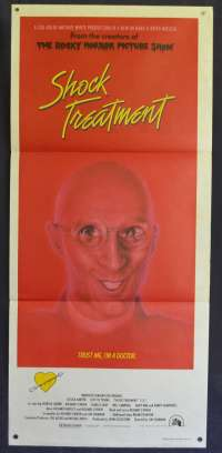 Shock Treatment 1981 Daybill Movie Poster Rocky Horror Picture Show Sequel