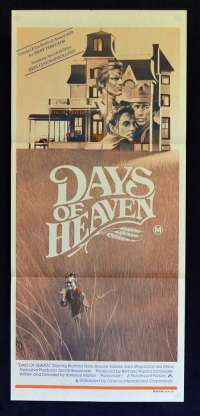 Days Of Heaven 1978 movie poster Daybill Richard Gere Terrence Malick Brooke Adams