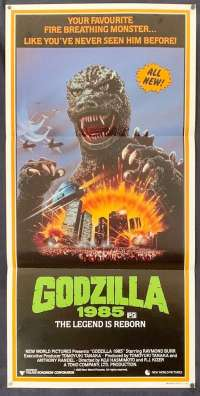 Godzilla The Legend Is Reborn Poster Original Daybill 1985 Raymond Burr