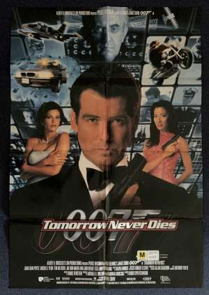 Tomorrow Never Dies Poster Original One Sheet DS 1997 Pierce Brosnan James Bond